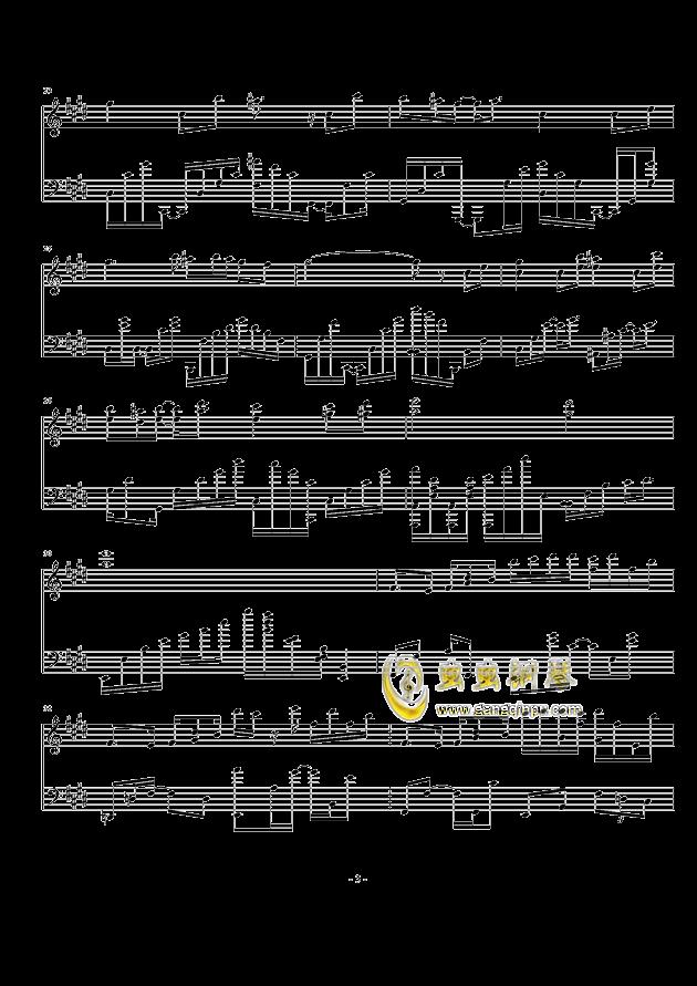 崩坏世界的歌姬(崩坏学园2主题曲)钢琴谱-崩坏学园