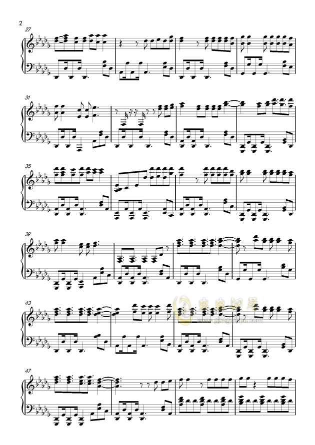 everything钢琴谱-疯狂动物城-虫虫钢琴谱免费