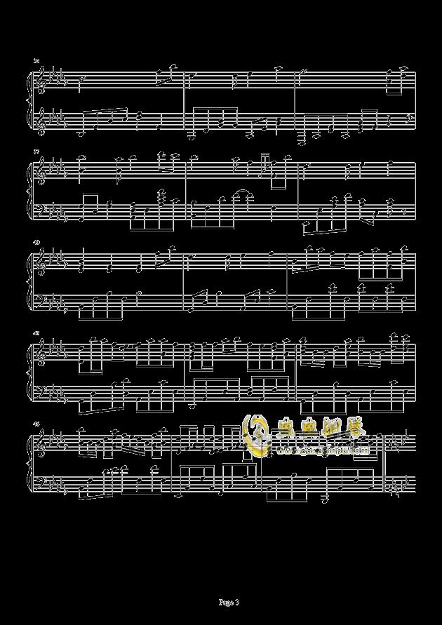 风居住的街道-饭碗的彼岸版钢琴谱图片