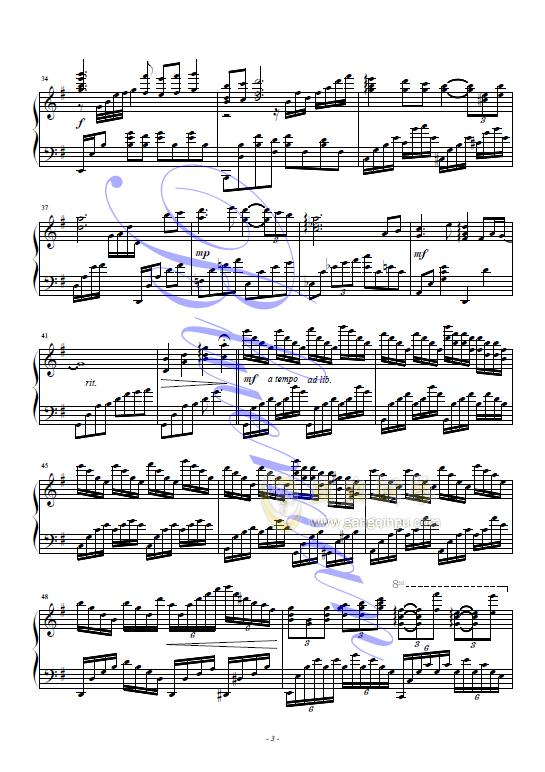在水一方,在水一方钢琴谱,在水一方钢琴谱网,在水一方
