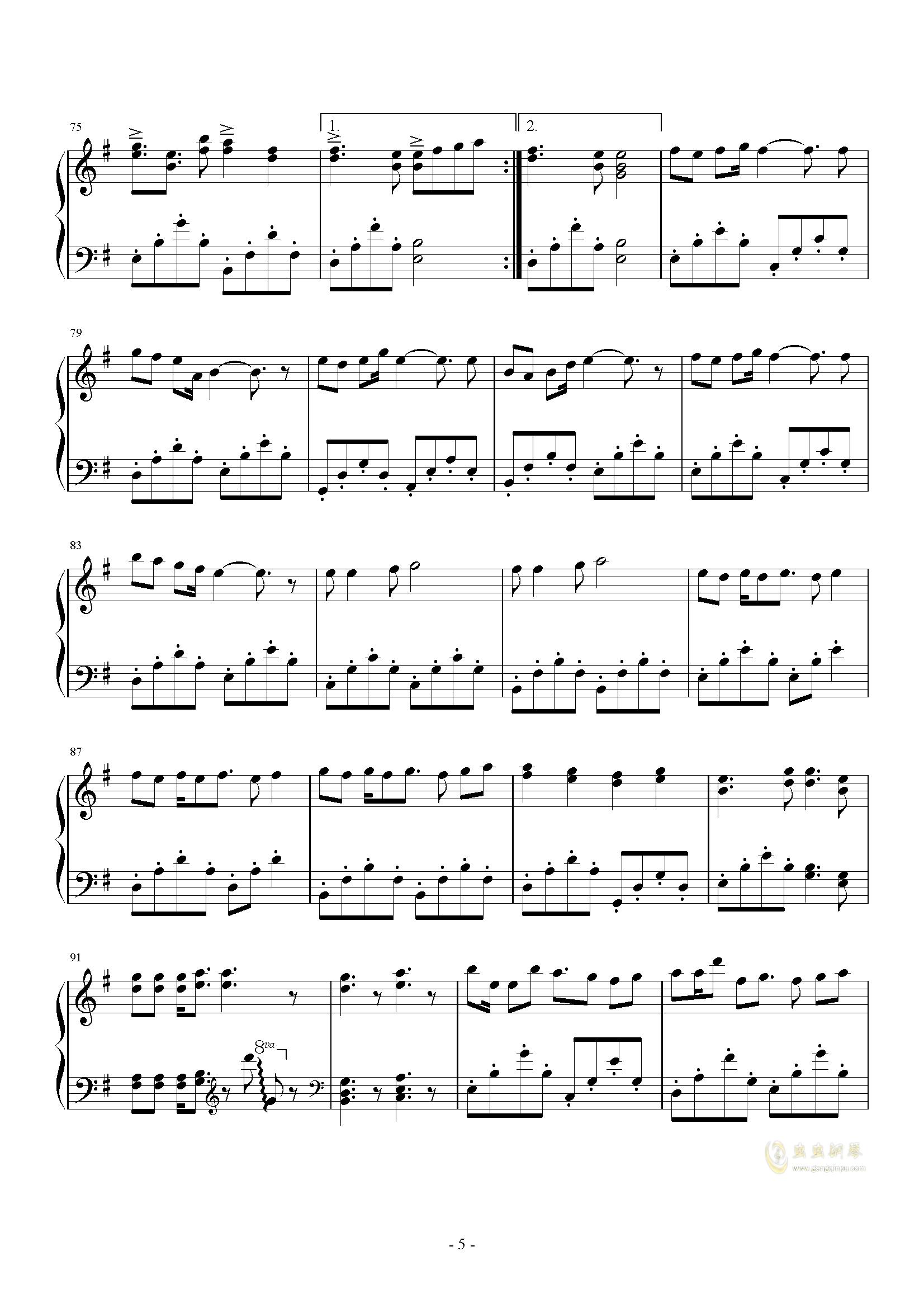 reart钢琴谱-初音未来-虫虫钢琴谱免费下载