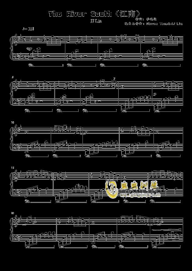 江南(the river south)钢琴谱-林俊杰-虫虫钢琴谱免费