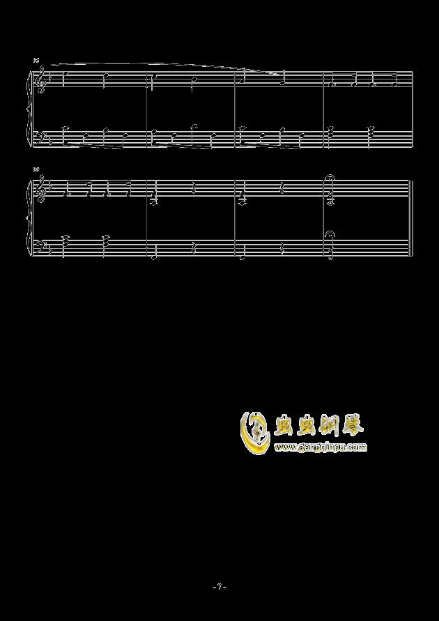 康康舞曲 简单版钢琴谱-巴赫-虫虫钢琴谱免费下载