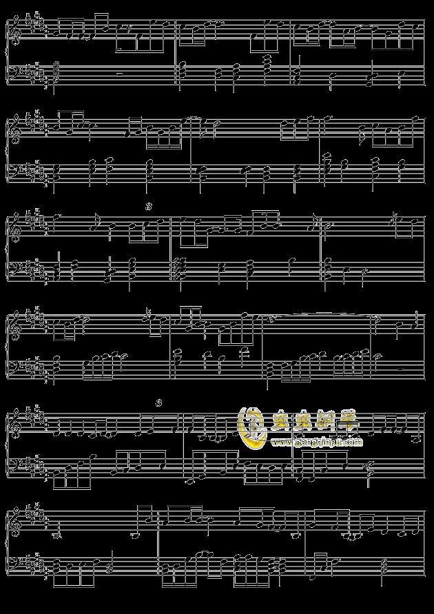 摩天轮的思念钢琴谱-王俊凯-虫虫钢琴谱免费下载