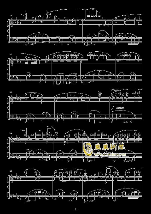 走进新时代(红歌/老歌)(华丽独奏)钢琴谱-张也-虫虫