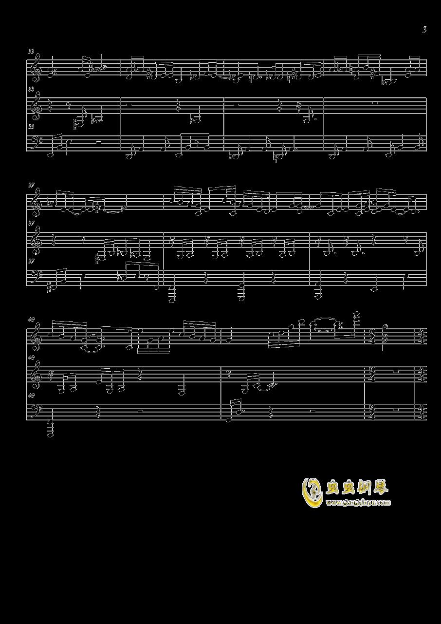 犬夜叉的曲谱_犬夜叉钢琴曲谱简谱