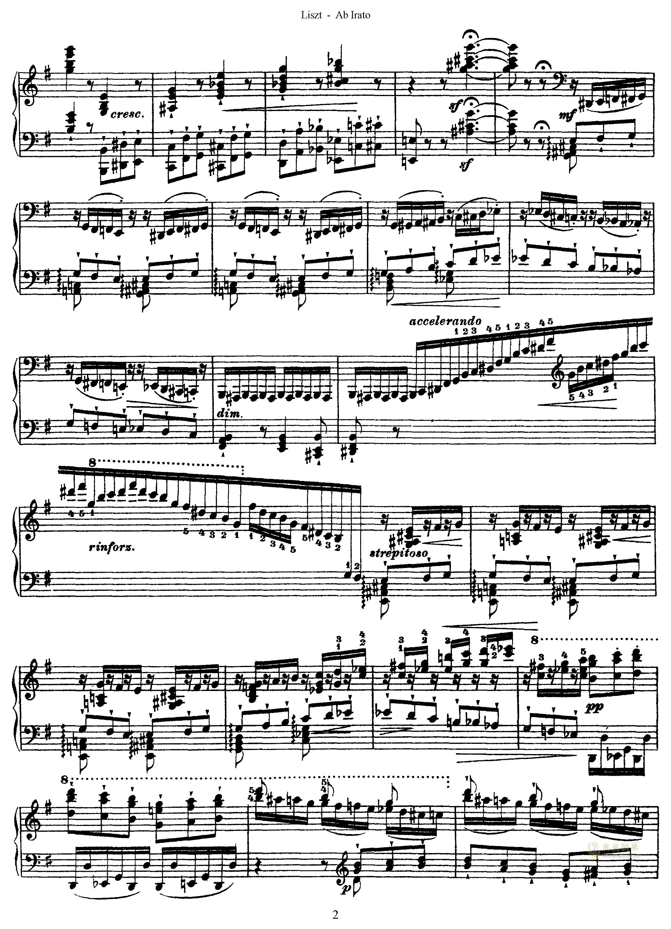 愤怒练习曲钢琴谱 第2页