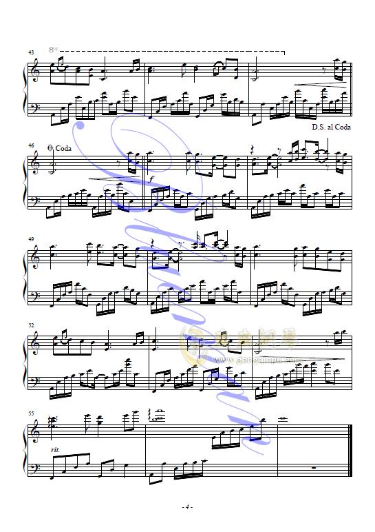 音乐乱红的五线谱