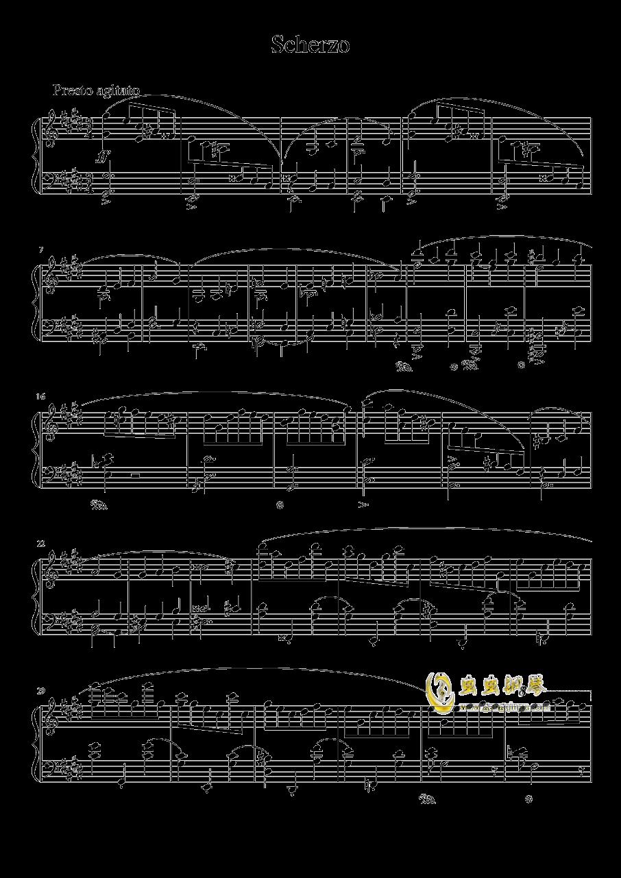 升c小调谐谑曲,升c小调谐谑曲钢琴谱,升c小调谐谑曲谱