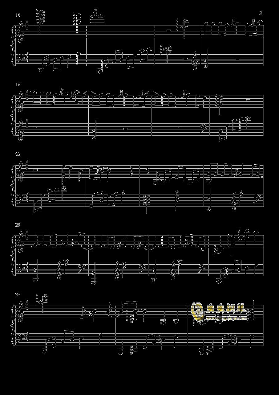 凉凉钢琴谱 第2页