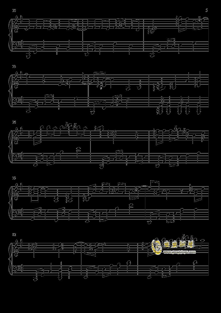 凉凉钢琴谱 第5页
