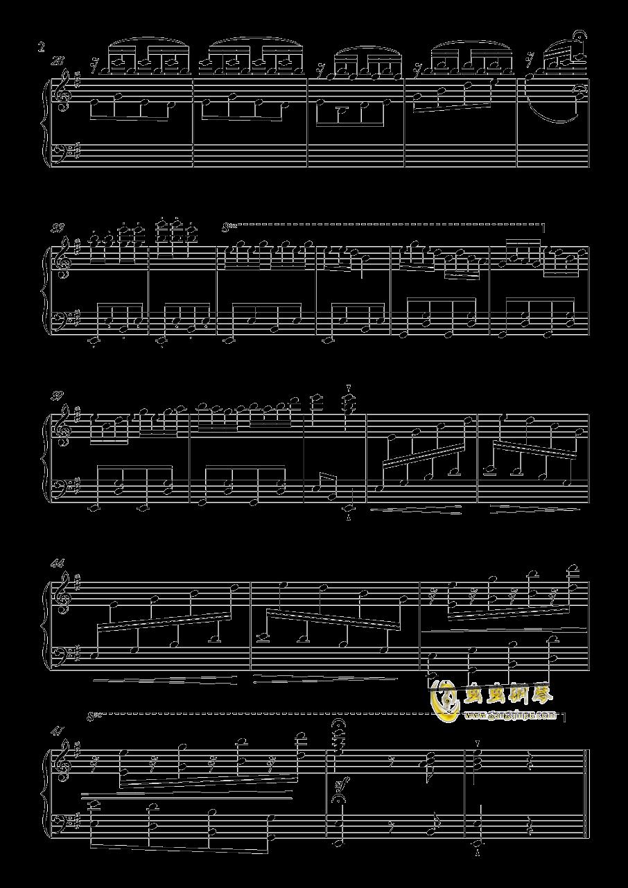 欢乐的锅庄跳起来钢琴谱 第2页图片