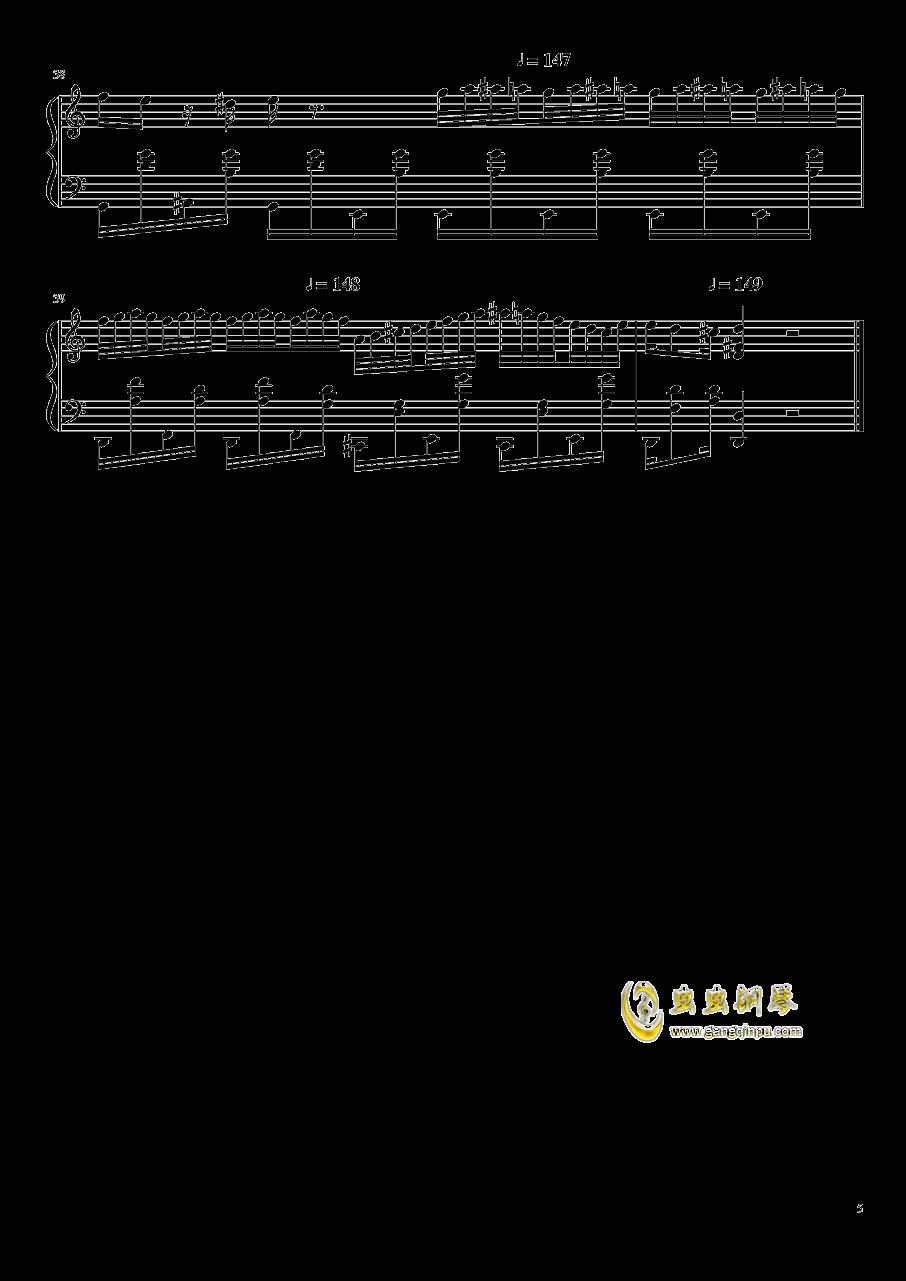 赛罗赛曲谱_钢琴简单曲谱