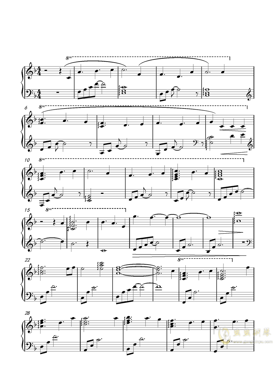 透明的曲谱_钢琴简单曲谱