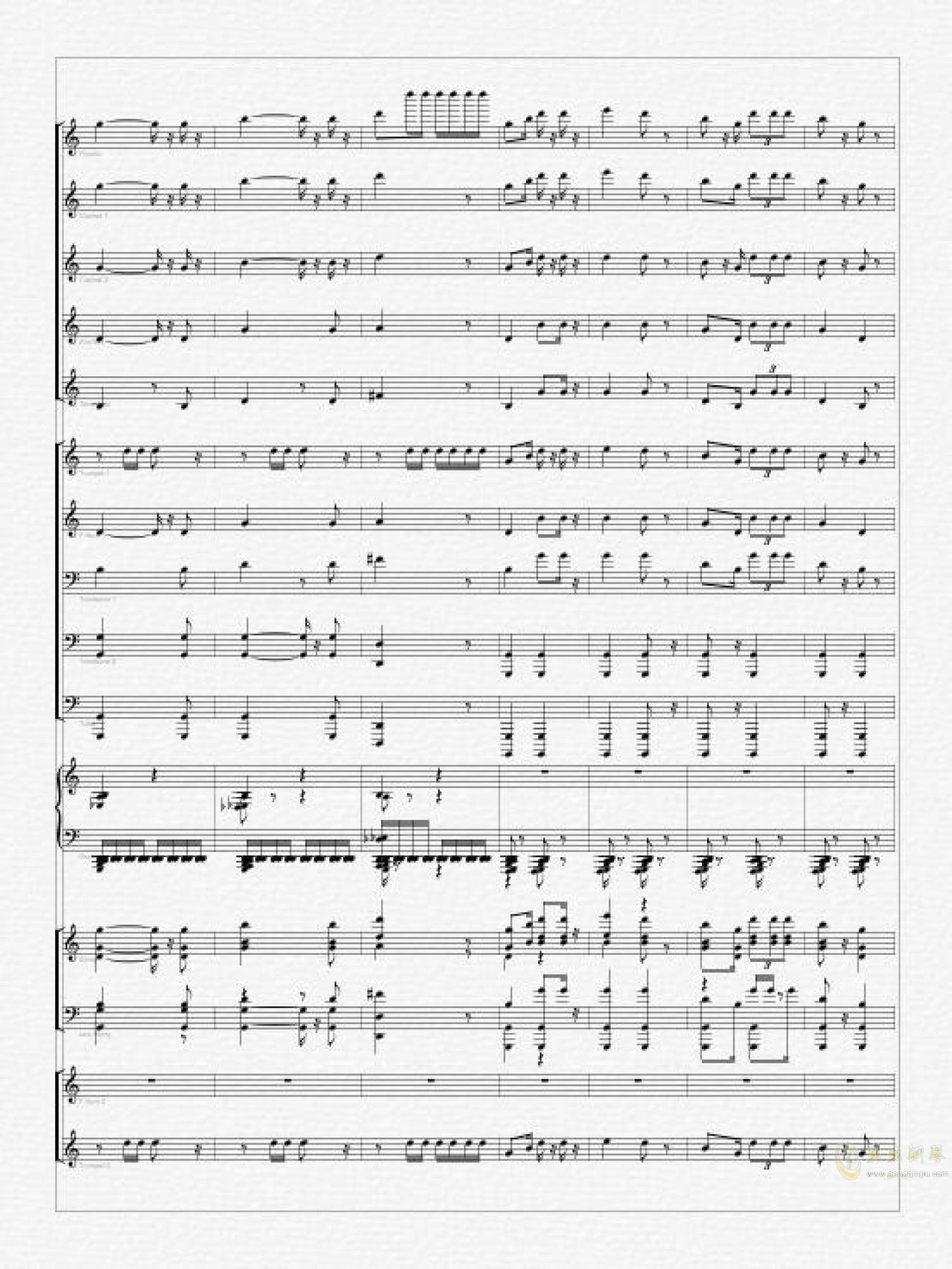 欢迎进行曲-总谱钢琴谱