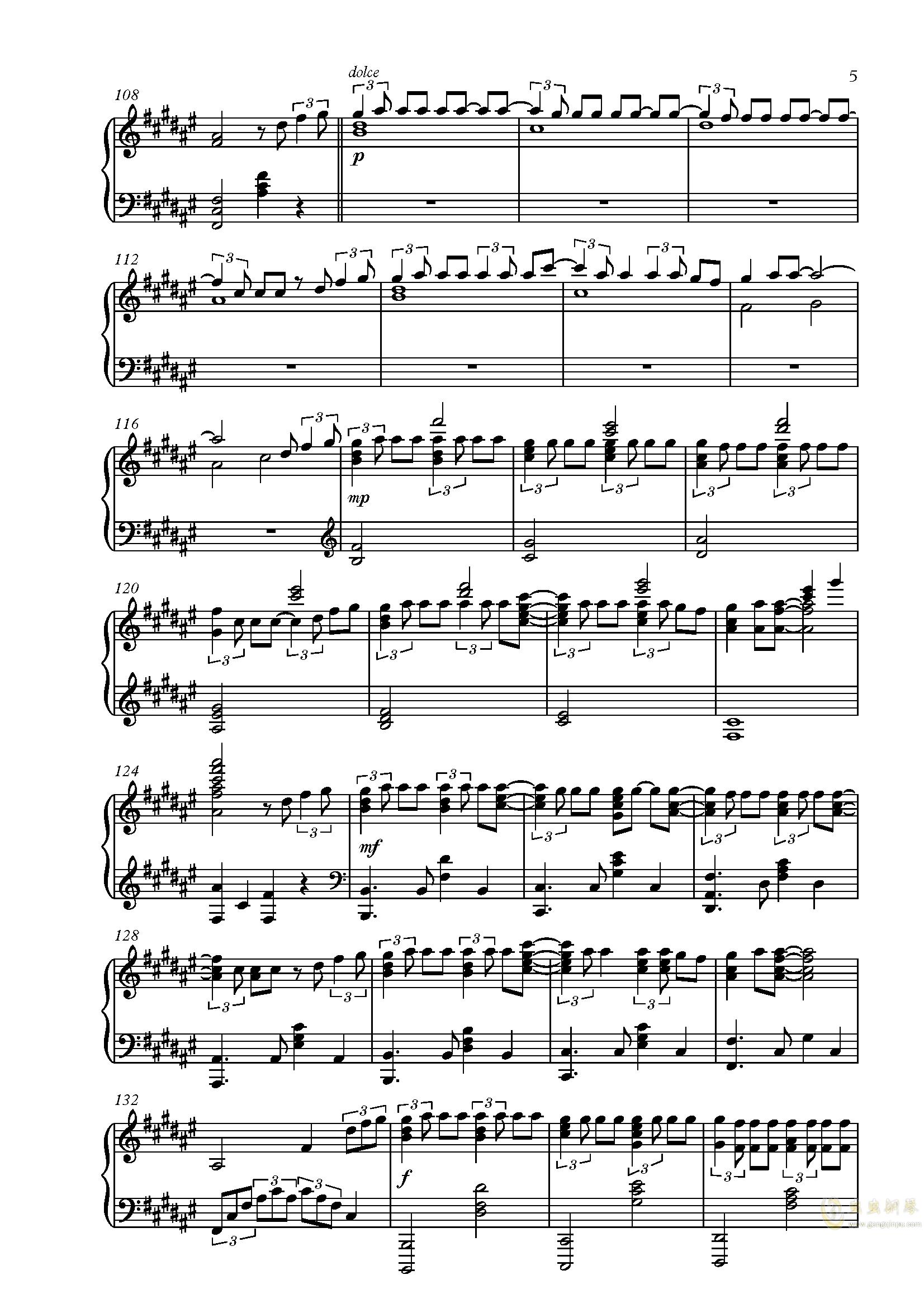 匂钢琴简谱_小星星钢琴简谱